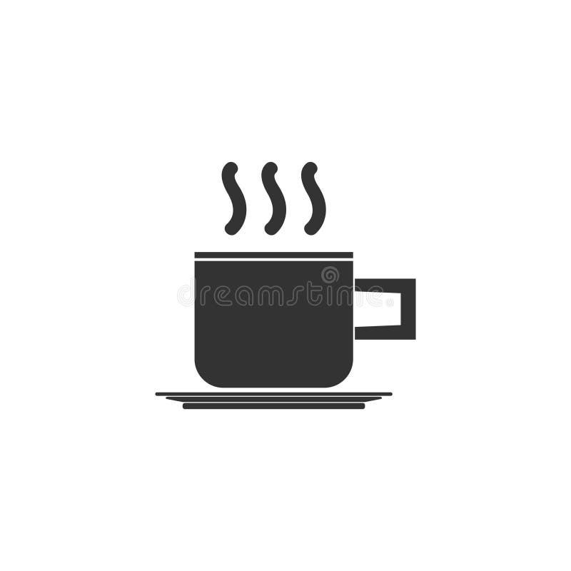 Ícone do copo de café liso ilustração do vetor