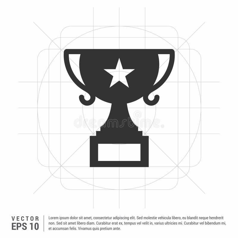 Ícone do copo de campeão ilustração stock
