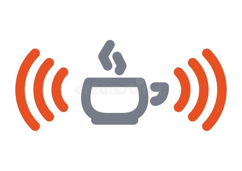 Ícone do copo de Wifi ilustração royalty free