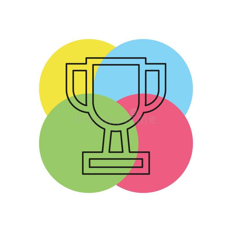 Ícone do copo do troféu - o prêmio do ouro isolou-se ilustração stock