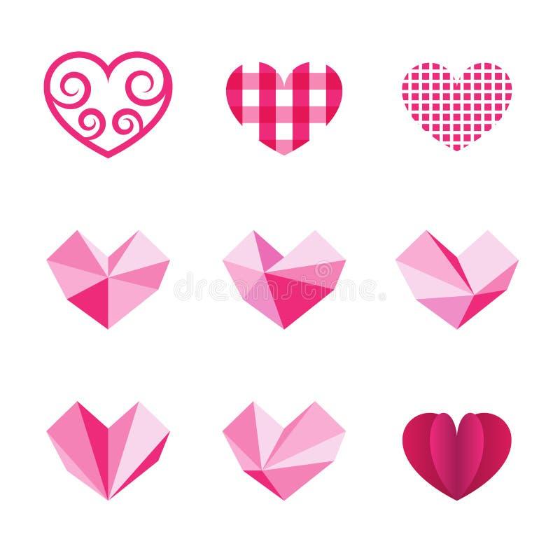 Ícone do coração ilustração stock