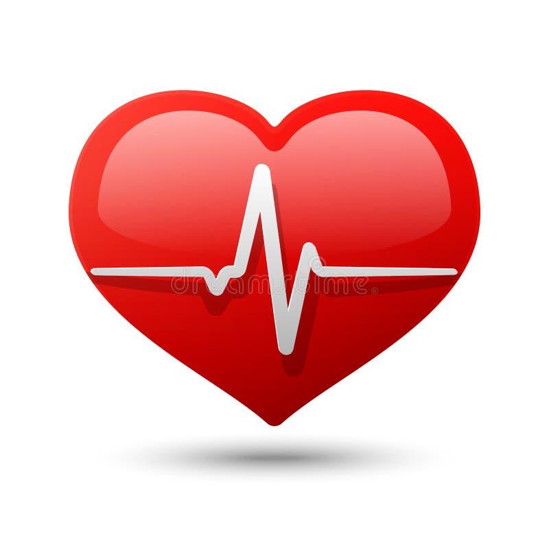 Ícone do coração. Ilustração do vetor ilustração do vetor