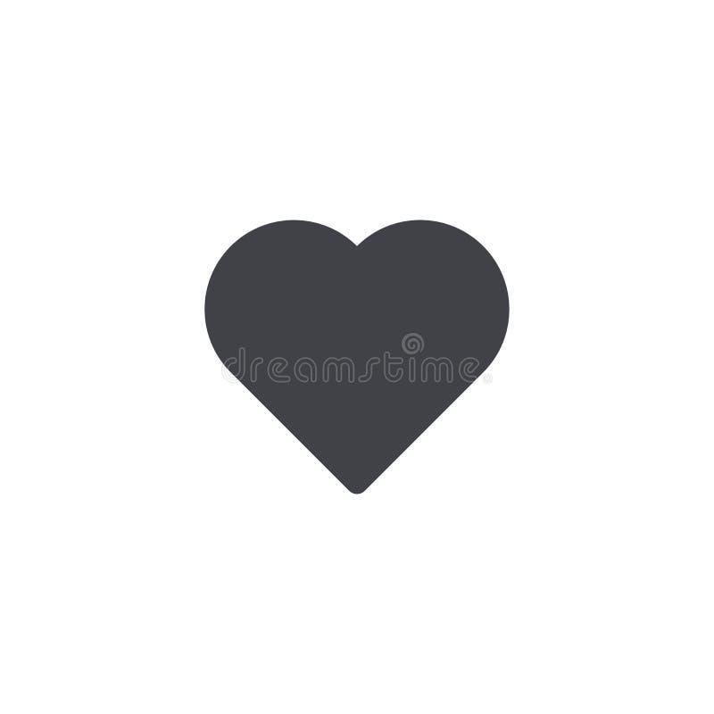 Ícone do coração do vetor Forma do coração Símbolo do amor Botão do coração Elemento para o cartão de relação do app do logotipo  ilustração do vetor