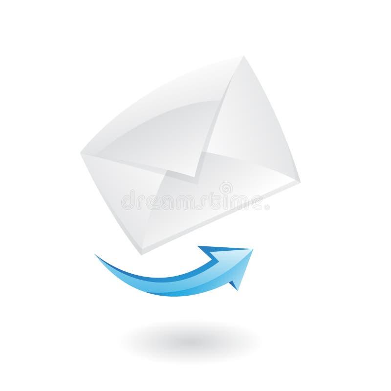 ícone do correio 3d ilustração royalty free