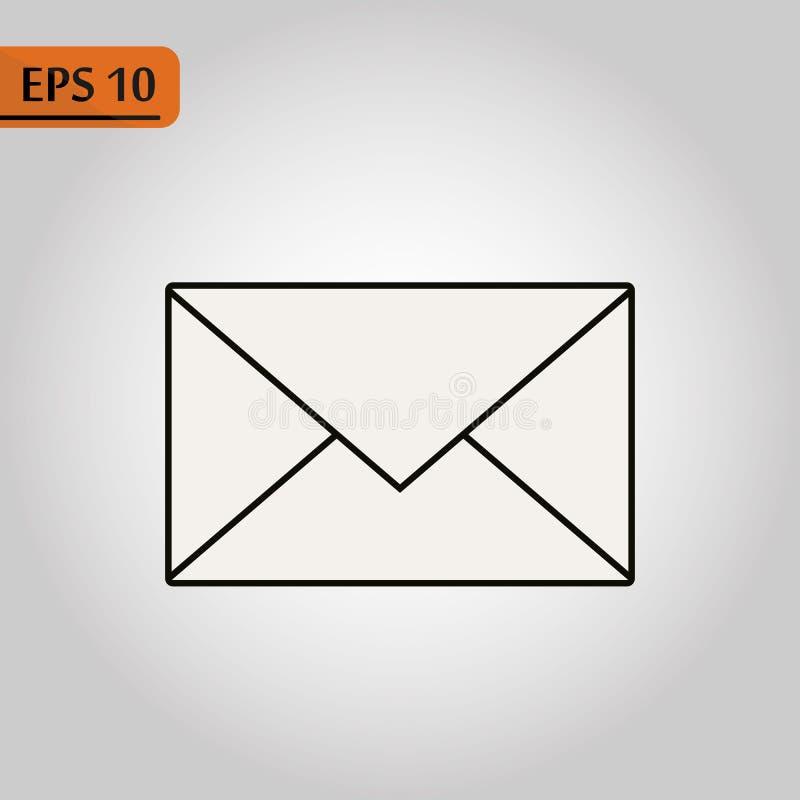 Ícone do correio Sinal do envelope Ilustração do vetor Ícone do email Ícone da letra Fundo transparente ilustração do vetor