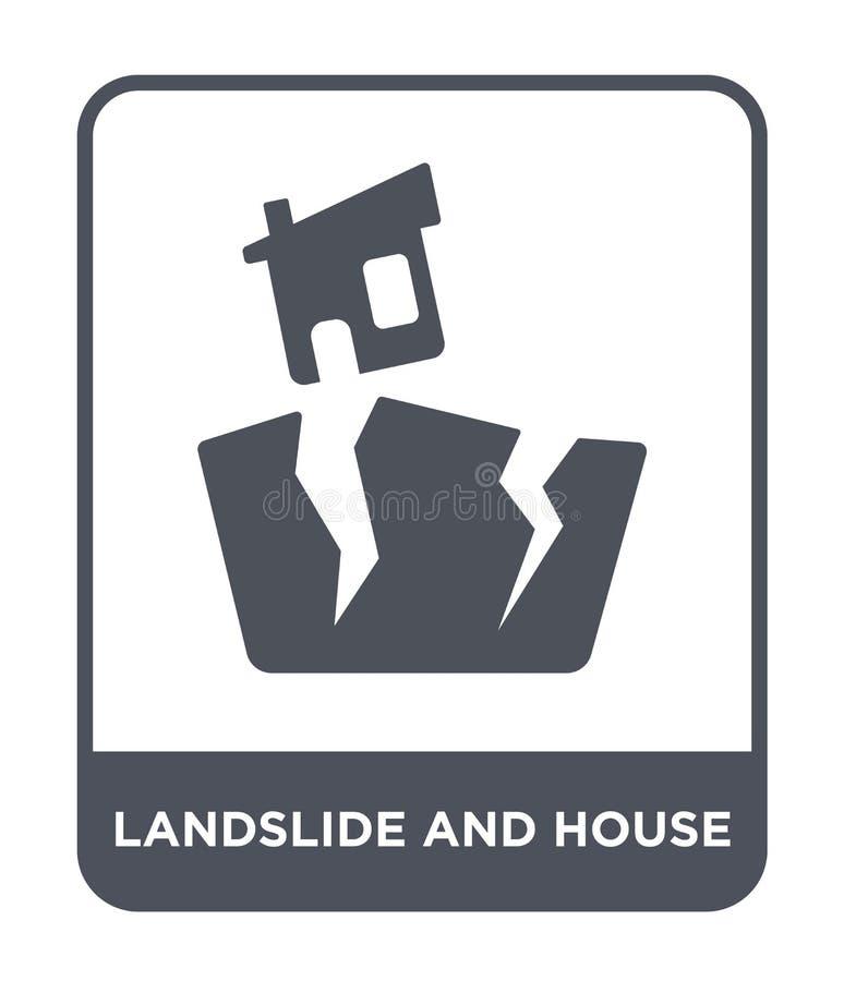 ícone do corrimento e da casa no estilo na moda do projeto ícone do corrimento e da casa isolado no fundo branco vetor do corrime ilustração stock