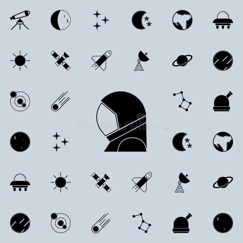 ícone do cosmonauta \ 'do terno de espaço de s Espace o grupo universal dos ícones para a Web e o móbil ilustração do vetor