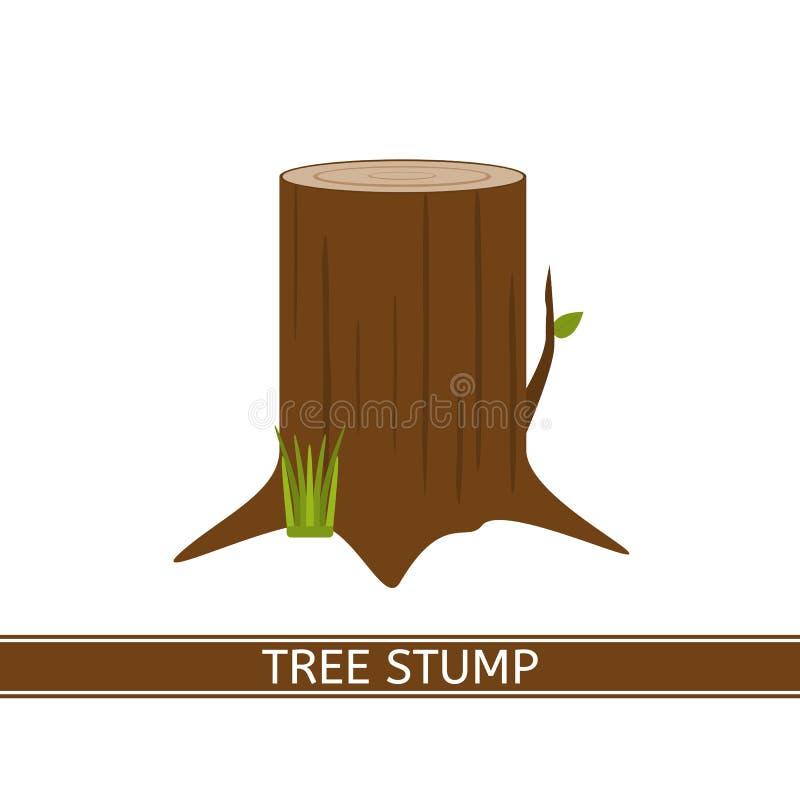 Ícone do coto de árvore ilustração do vetor