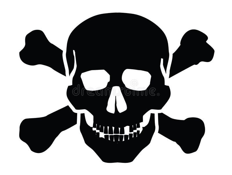 Ícone do crânio ilustração stock