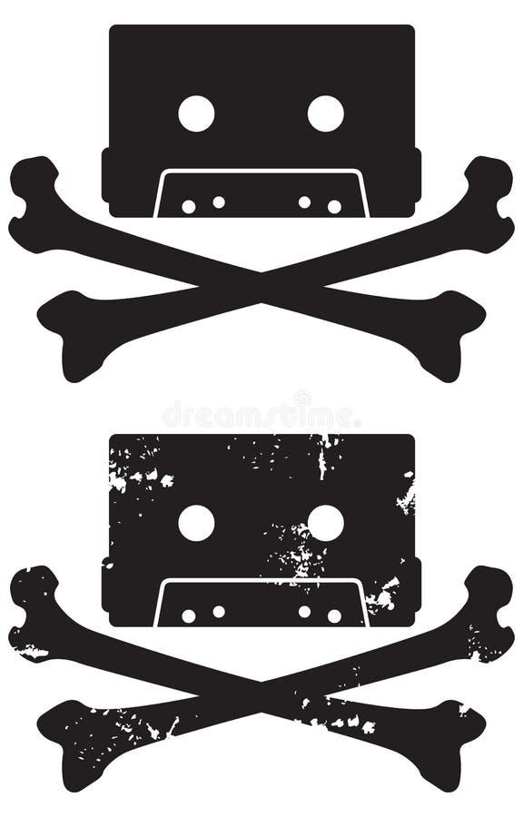 Ícone do crânio da gaveta ilustração do vetor