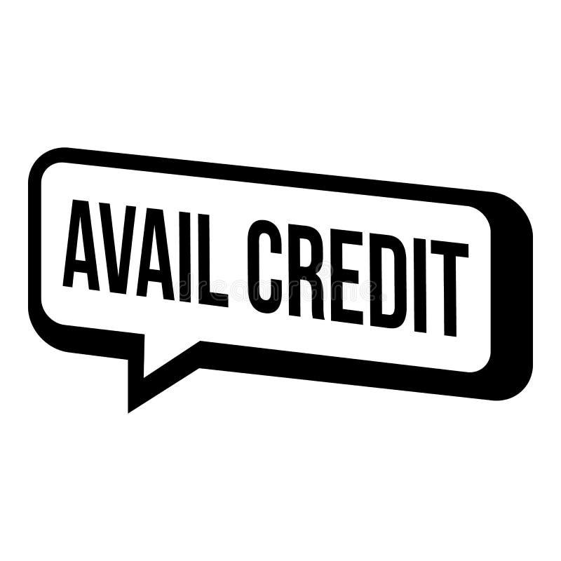 Ícone do crédito do proveito, estilo simples ilustração stock