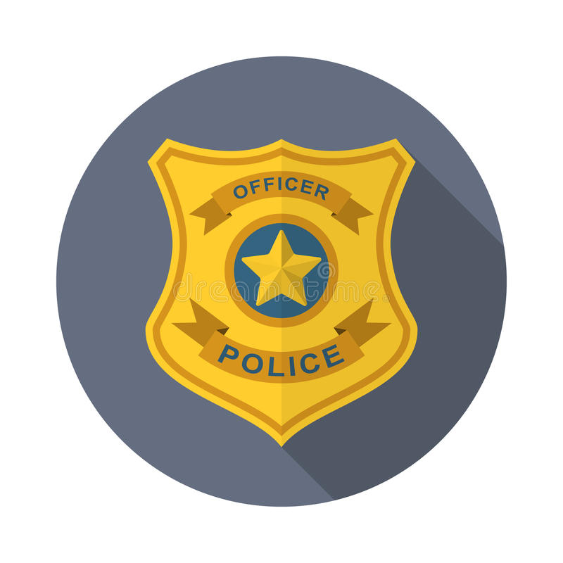Ícone do crachá da polícia ilustração stock