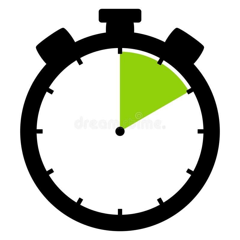 Ícone do cronômetro: 10 minutos 10 segundos ou 2 horas ilustração royalty free