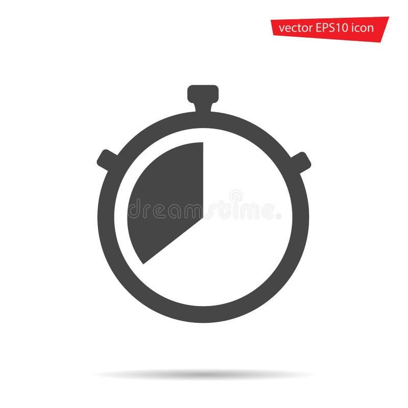 Ícone do cronômetro Vetor do temporizador do cronômetro isolado Sinal liso simples moderno Negócio, concep do Internet ilustração do vetor