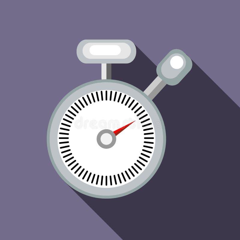 Ícone do cronômetro no estilo liso ilustração do vetor