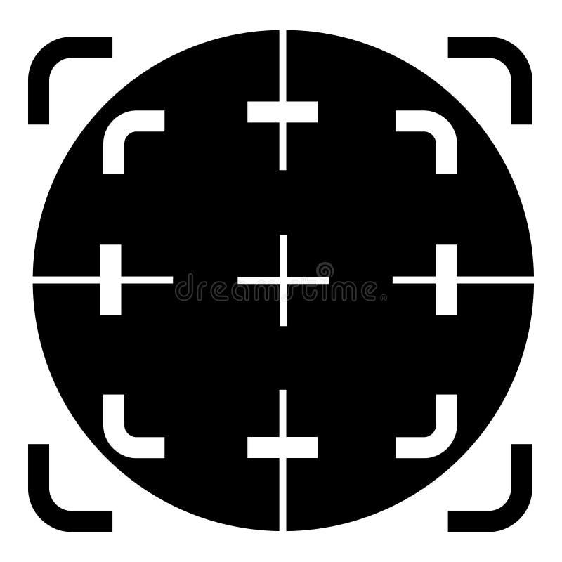 Ícone do crosshair do espaço, estilo simples ilustração do vetor