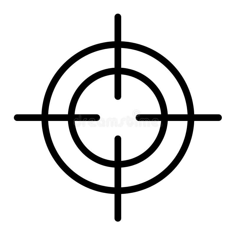 Ícone do Crosshair, estilo do esboço ilustração stock
