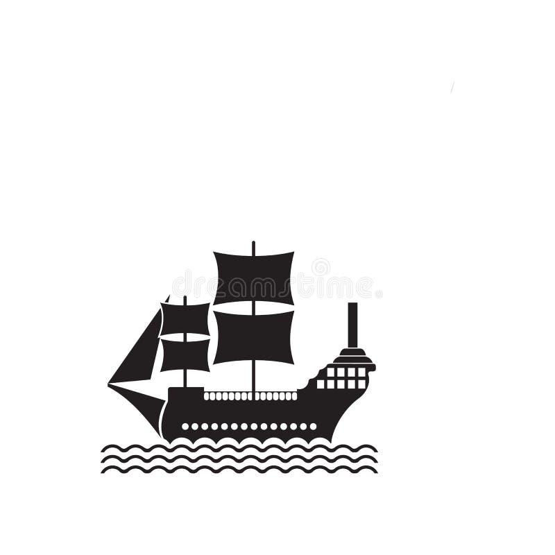 ícone do cruzador da navigação Elemento da ilustração do navio Ícone superior do projeto gráfico da qualidade Sinais e ícone da c ilustração stock
