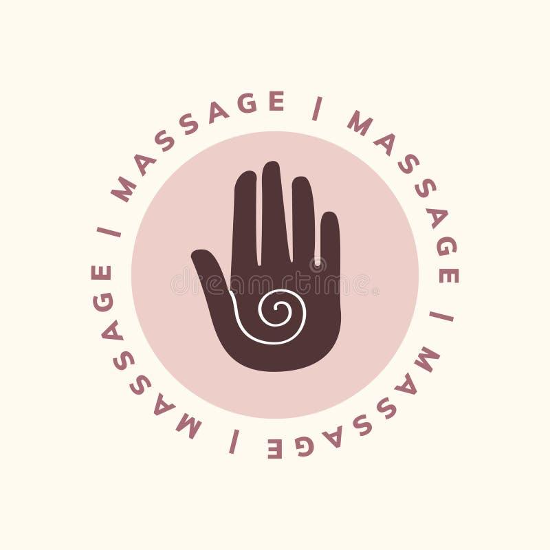 Ícone do cuidado da massagem e do corpo ilustração royalty free