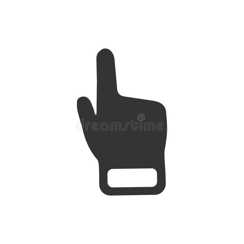 Ícone do cursor da mão ilustração stock