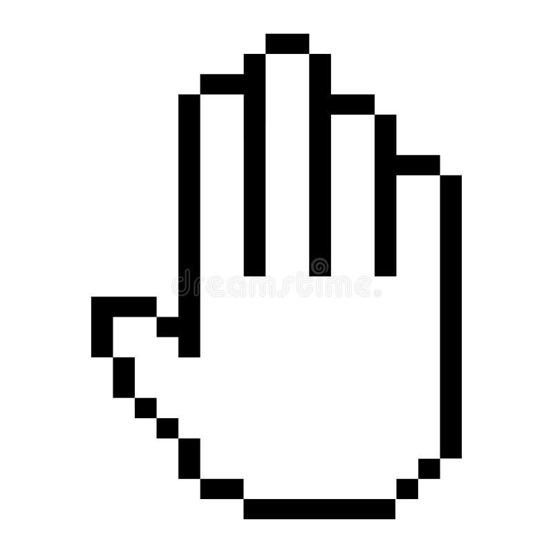Ícone do cursor, ponteiro do computador e símbolo da seta ilustração do vetor