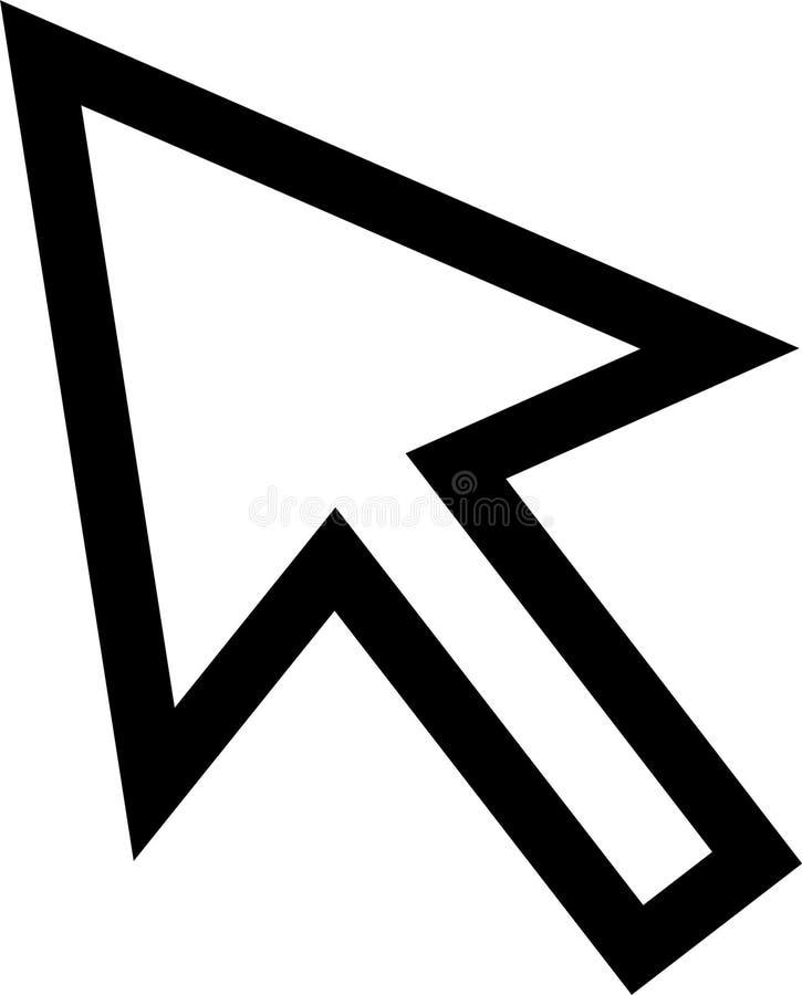 Ícone do cursor do rato ilustração royalty free