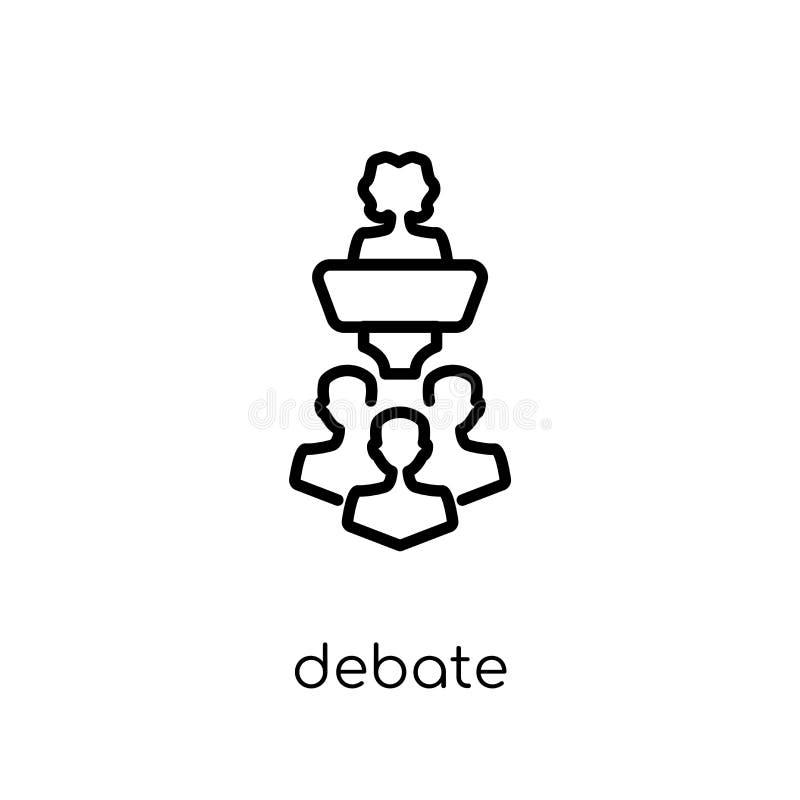 Ícone do debate da coleção ilustração do vetor