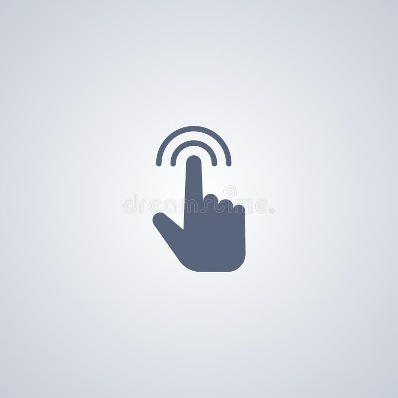 Ícone do dedo do toque ilustração stock