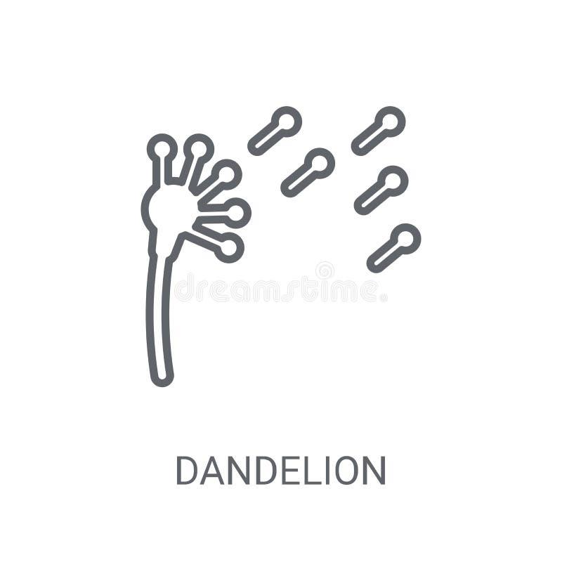 Ícone do dente-de-leão Conceito na moda do logotipo do dente-de-leão no backgroun branco ilustração stock