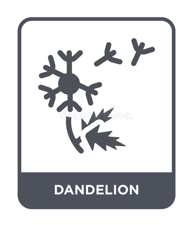 ícone do dente-de-leão no estilo na moda do projeto ícone do dente-de-leão isolado no fundo branco plano simples e moderno do íco ilustração stock
