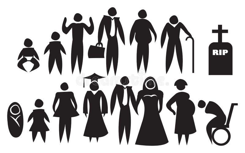 Ícone do desenvolvimento da vida ilustração royalty free