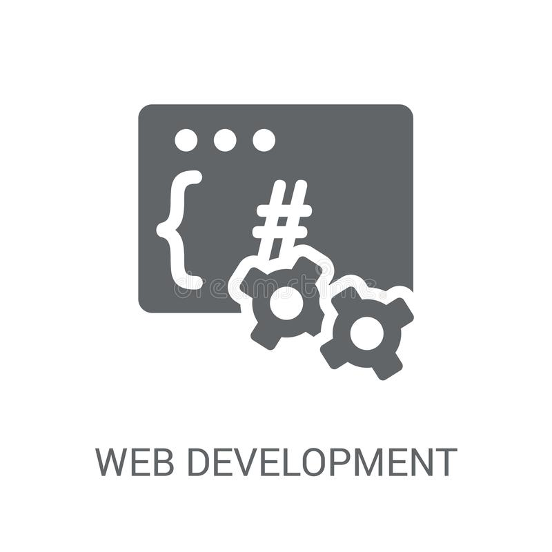 Ícone do desenvolvimento da Web  ilustração royalty free