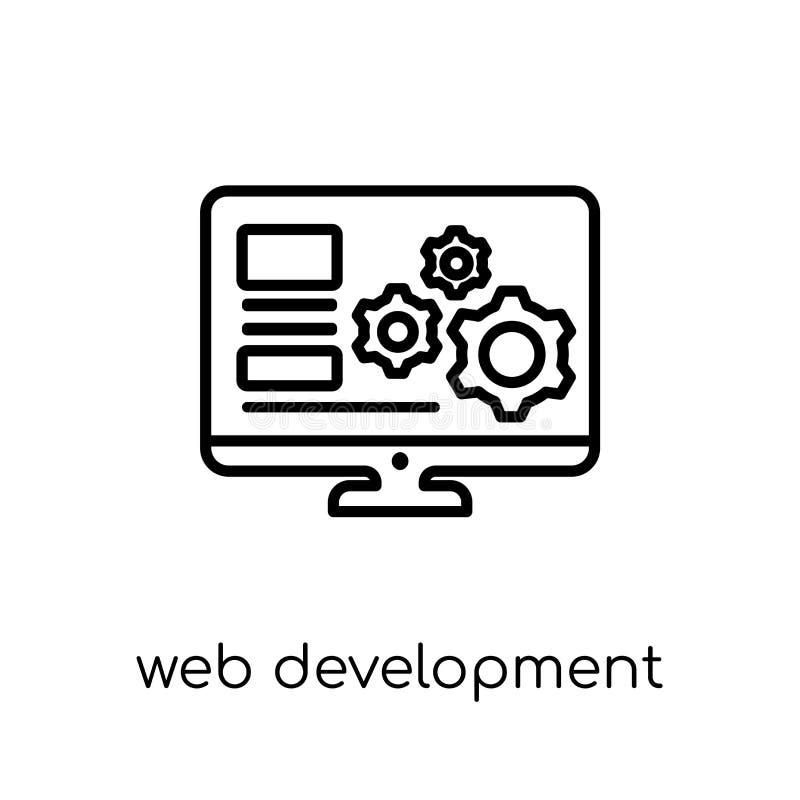 Ícone do desenvolvimento da Web Devel linear liso moderno na moda da Web do vetor ilustração stock