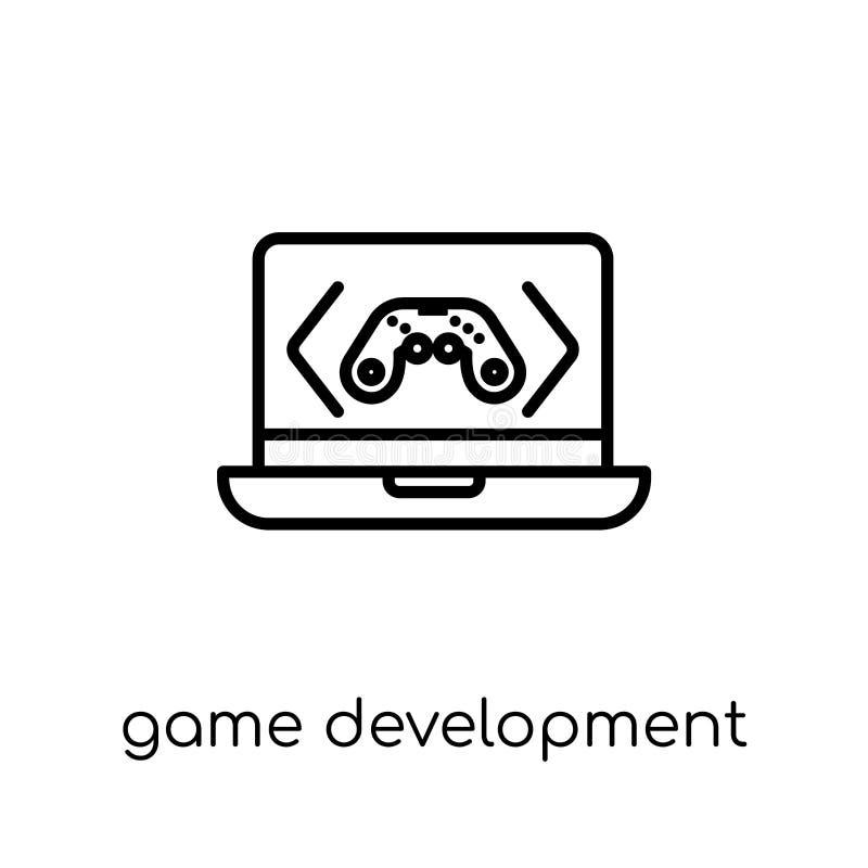 Ícone do desenvolvimento do jogo Colaborador linear liso moderno na moda do jogo do vetor ilustração royalty free