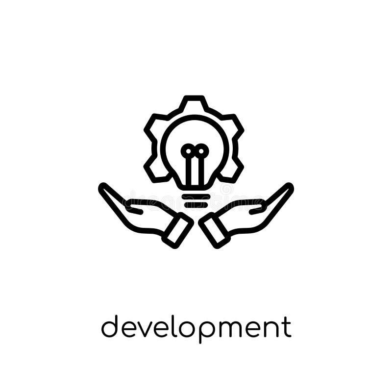Ícone do desenvolvimento Desenvolvimento linear liso moderno na moda do vetor mim ilustração do vetor