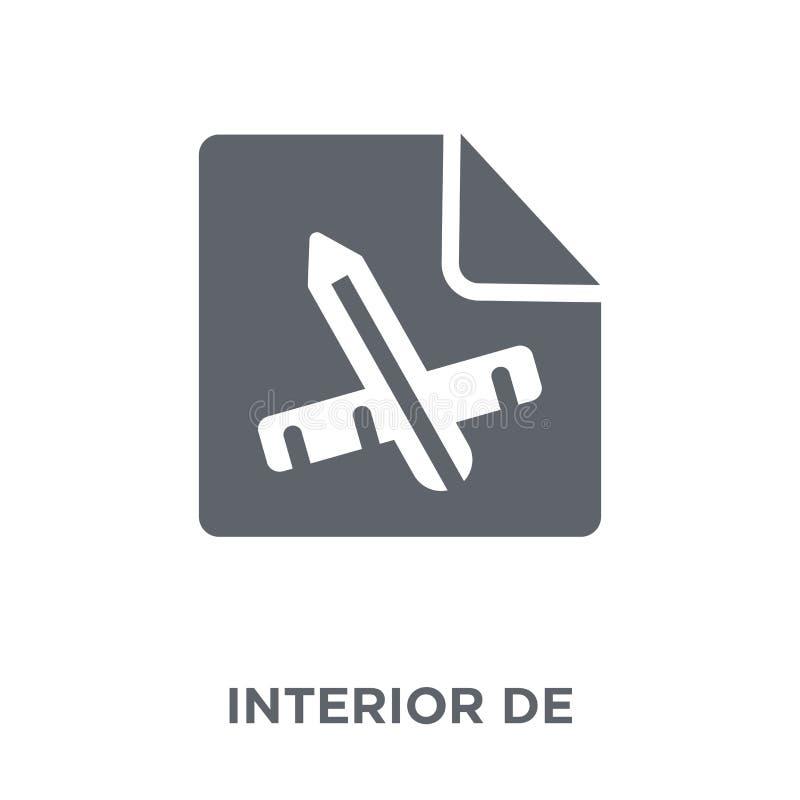 Ícone do design de interiores da coleção ilustração royalty free