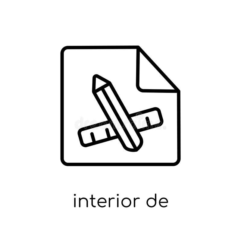 Ícone do design de interiores da coleção ilustração stock