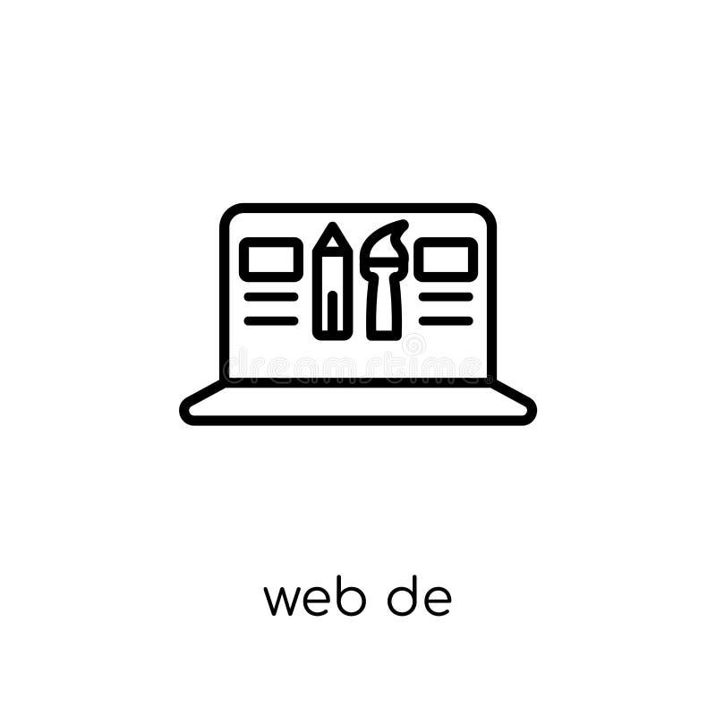 Ícone do design web Ico linear liso moderno na moda do design web do vetor ilustração royalty free