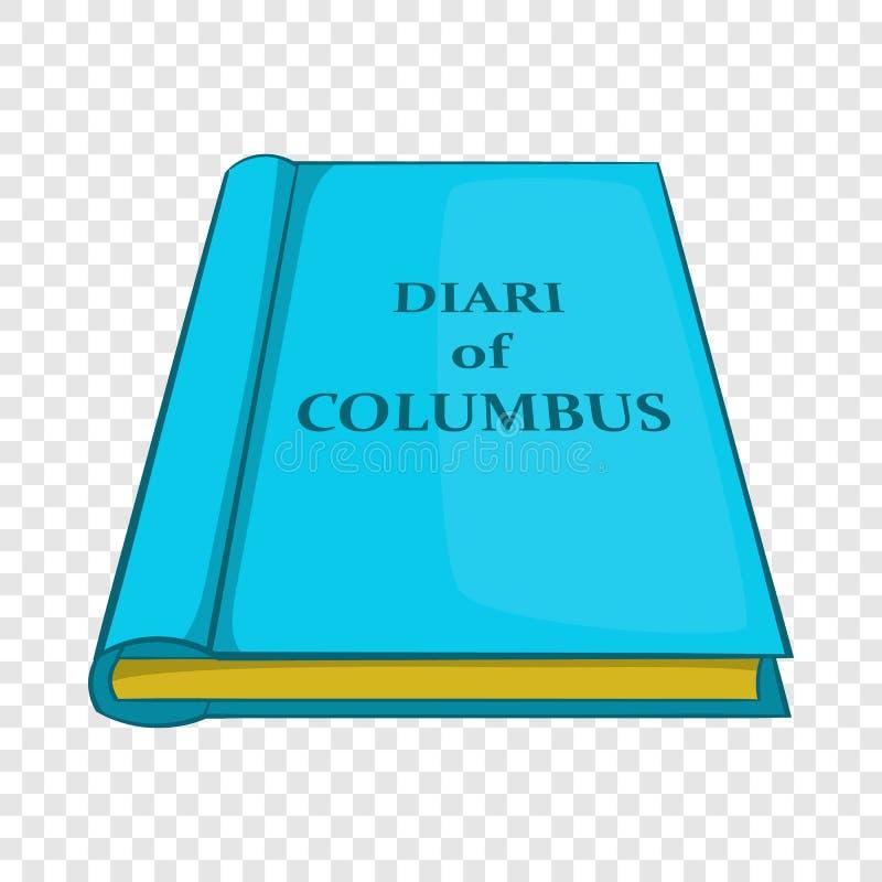 Ícone do diário de Columbo, estilo dos desenhos animados ilustração royalty free