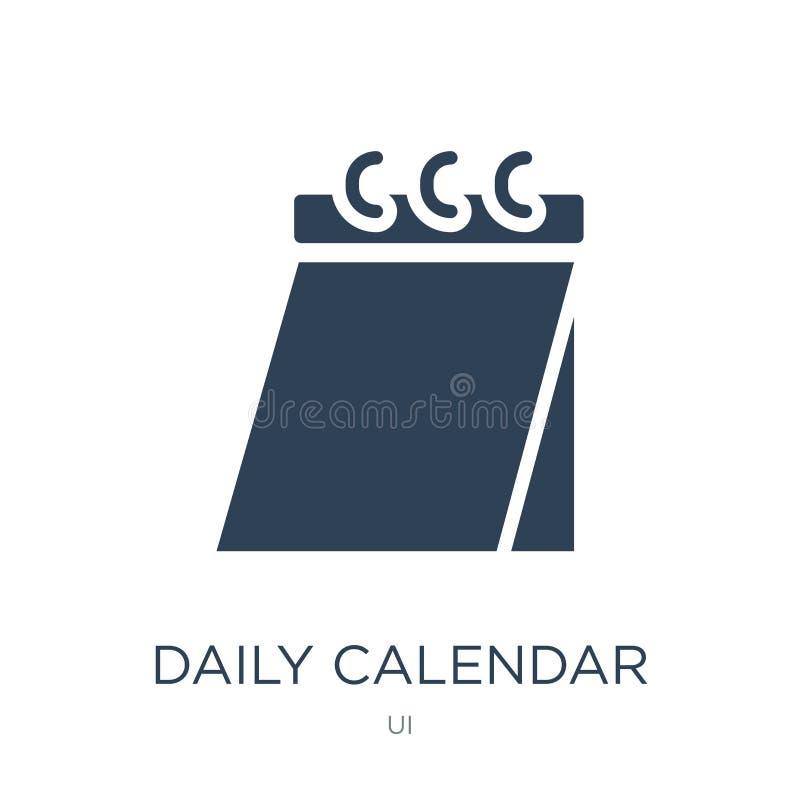 ícone do dia de calendário diário 14 no estilo na moda do projeto ícone do dia de calendário diário 14 isolado no fundo branco di ilustração royalty free