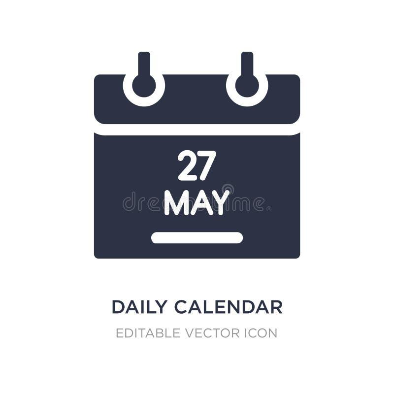 ícone do dia de calendário diário 14 no fundo branco Ilustração simples do elemento do conceito de UI ilustração stock