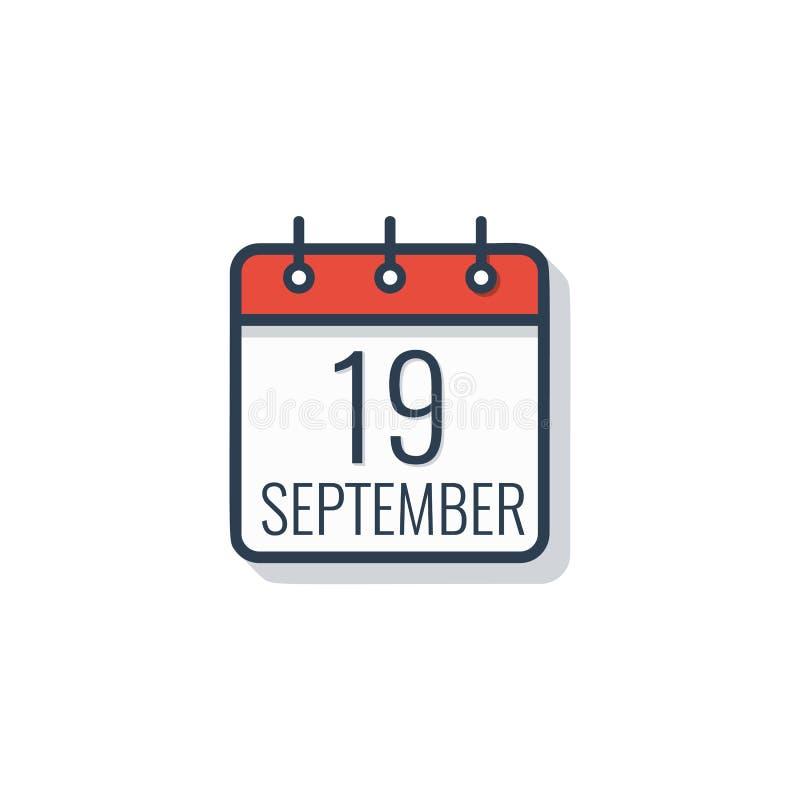 Ícone do dia de calendário isolado no fundo branco Ilustração do vetor ilustração do vetor