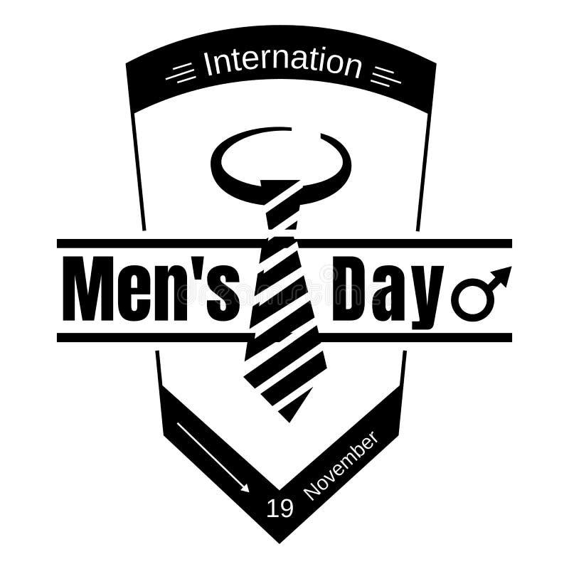 Ícone do dia de homens do laço do terno, estilo simples ilustração do vetor