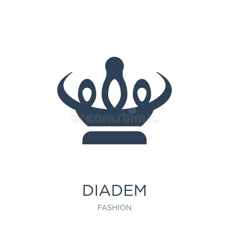 ícone do diadema no estilo na moda do projeto ícone do diadema isolado no fundo branco símbolo liso simples e moderno do ícone do ilustração stock