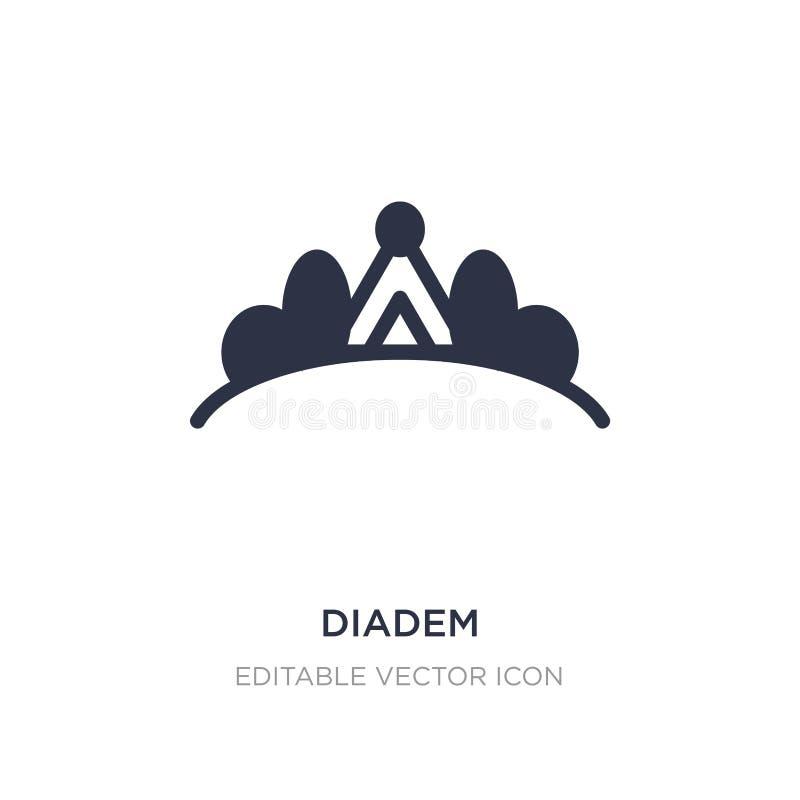 ícone do diadema no fundo branco Ilustração simples do elemento do conceito da forma ilustração royalty free
