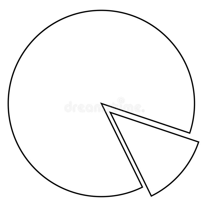 Ícone do diagrama do círculo Cor preta ilustração royalty free