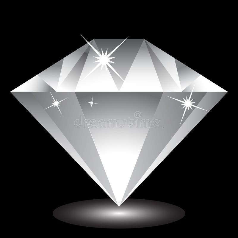 Ícone do diamante ilustração stock