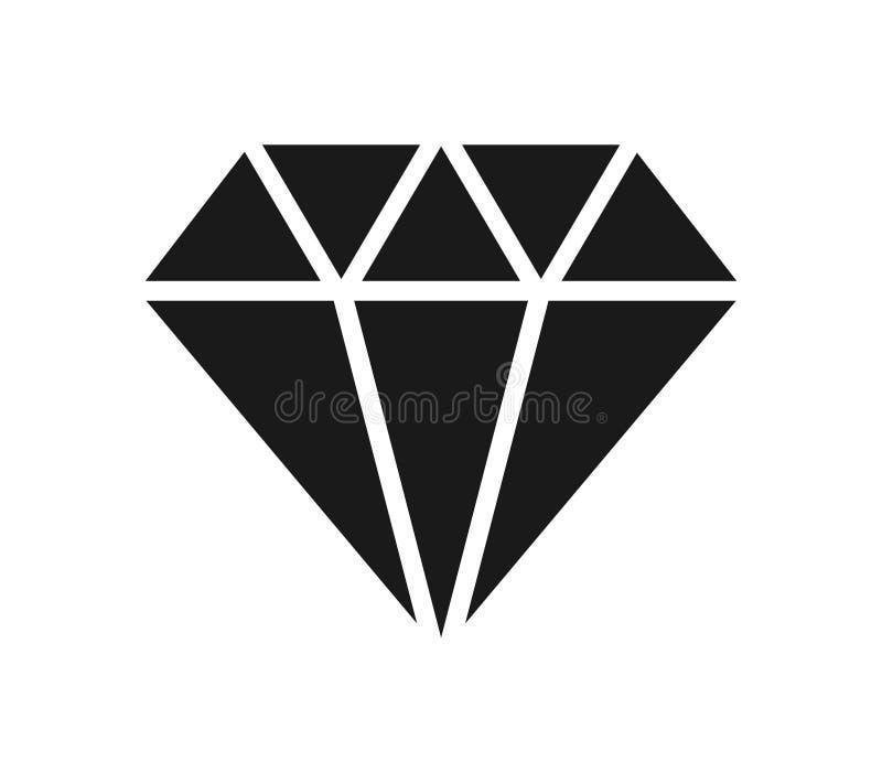 Ícone do diamante ilustração royalty free