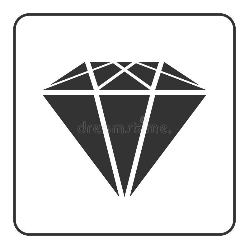 Ícone 1 do diamante ilustração do vetor