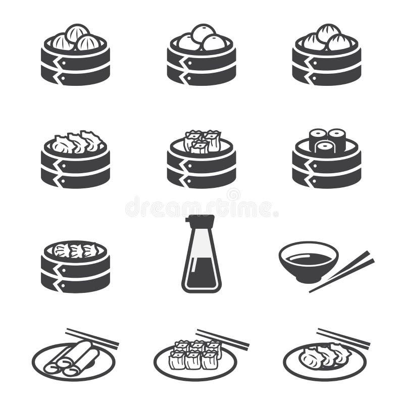 Ícone do dim sum ilustração stock